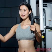 【ACTIONLINE】純棉運動內衣/附胸墊(灰)