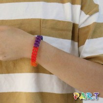 【PAR.T】六彩鏈型矽膠手環