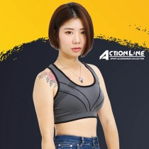 【ACTIONLINE】爬線套頭運動內衣 - 黑
