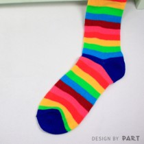 【PAR.T】彩虹商品-彩虹長襪(深藍)