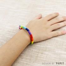 【PAR.T】彩虹商品-編織棉繩手環
