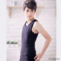 【T-STUDIO】側拉式束胸泳衣/單件銷售(黑)