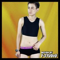 【T-STUDIO】靚系列/造型中性三角內褲(紫黑)