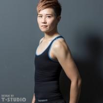 【T-STUDIO】STYLE系列/雕塑完美身形/貼身塑型套頭全身(藍黑)